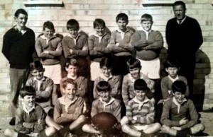 Back row / 3rd from left - Warren Rodwell 1969 Under 11 West Tamworth Public School rugby league team